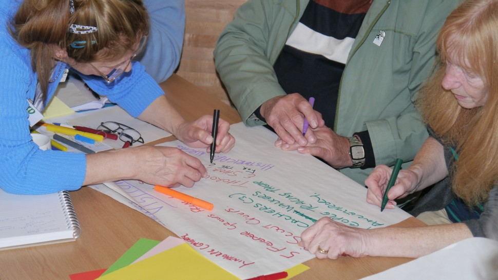 Community Group participants at TellTale workshop for Tees Valley Wild Green Places Project.