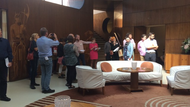 Course participants gathered in the entrance hall at Eltham Palace, London
