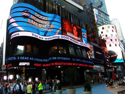 Billboards and advertising at Times Square, New York, America