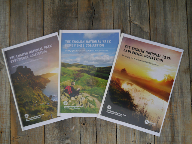 Covers of three English National Park Experience Development Frameworks