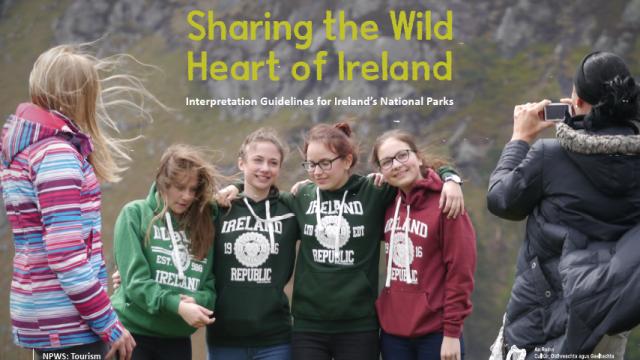 Smiling Irish teenagers on a windy day